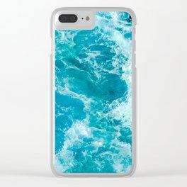 Sea Me Waving Clear iPhone Case