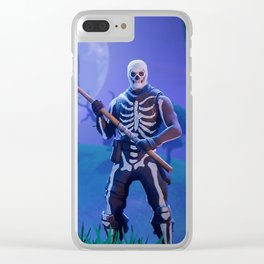 Fortnit Skull Trooper Clear iPhone Case
