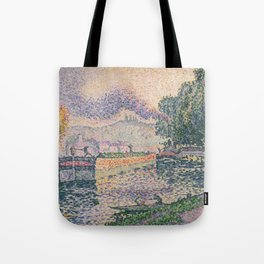 The Tugboat, Canal in Samois Tote Bag