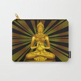 Buddha Siddhartha Gautama Golden Statue Carry-All Pouch
