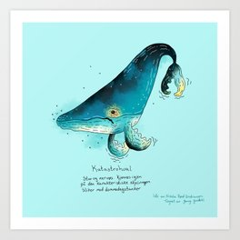 Triste dyr: Katastrohval Art Print