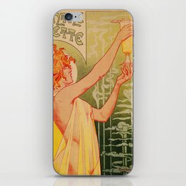 Classic French art nouveau Absinthe Robette iPhone Skin