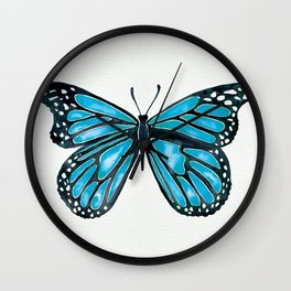 Blue Morpho Butterfly Wall Clock