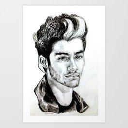 Zayn Malik drawing Art Print