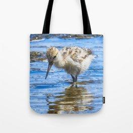 Black Necked Stilt Chick Tote Bag
