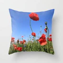 poppy flower no15 Throw Pillow