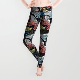 Beautiful graphic illustration of colorful butterflies Leggings