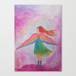 Rainbow Wings Canvas Print