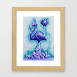 Amethyst Flamingo Framed Art Print