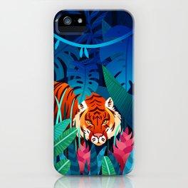 jungle tiger iPhone Case
