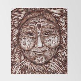 Wisdom Keeper Brown #53 (Expansion) Throw Blanket