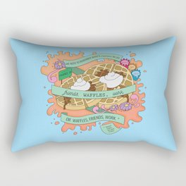 Friends, Waffles, Work Rectangular Pillow