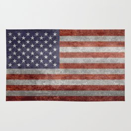 Flag of the United States of America - Vintage Retro Distressed Textured version Rug