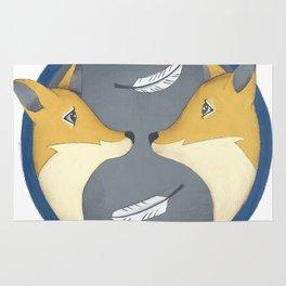 fox couple Rug