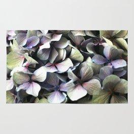 hydrangea flower macro Rug