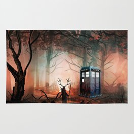 TARDIS IN THE FOREST Rug