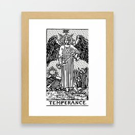 Modern Tarot Design - 14 Temperance Framed Art Print