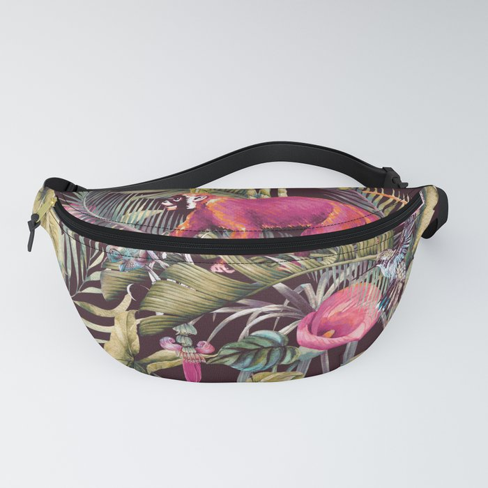 Fantasy in the nocturnal tropical jungle Fanny Pack
