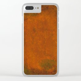Weathered Copper Texture Clear iPhone Case