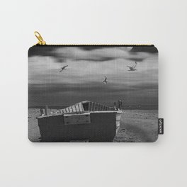 Row Boat on a Sandy Beach in Biscayne Bay Florida Carry-All Pouch