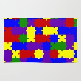 Colorful puzzle Rug