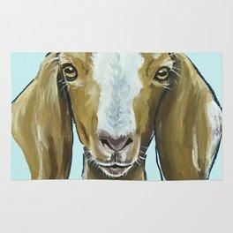 Goat Art, Cute Farm Animal Painting Rug