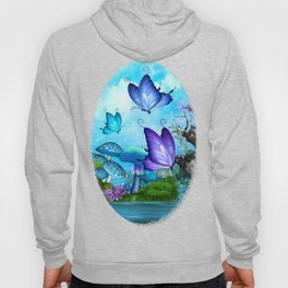 Mystic Whimsey Butterfly Pond Fantasy Hoody