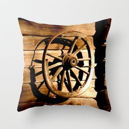Old Cartwheel #decor #society6 Throw Pillow