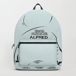 The Birds, Alfred Hitchcock, alternative movie poster, minimal playbill, Tippi Hedren, horror film Backpack