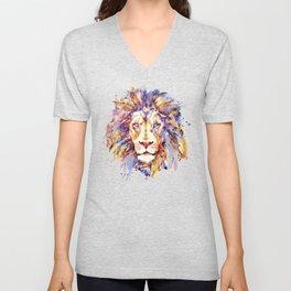 Lion Head Unisex V-Neck