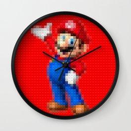 Mario - Toy Building Bricks Wall Clock