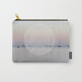 Calm Sea Sail Boats Geometric Nature Art Carry-All Pouch
