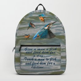 Teach a Man to Fish Backpack