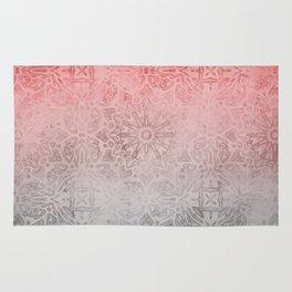 Oriental ornament pattern Rose Quartz Rug