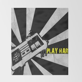 PLAY HARD Throw Blanket