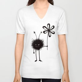 Evil Flower Bug Unisex V-Neck