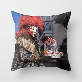 Carnival masks in Venice, Italy Throw Pillow