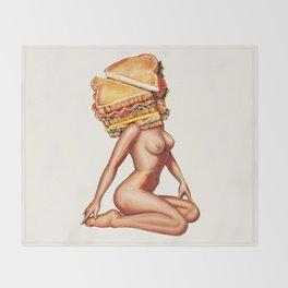 Sandwich Girl Throw Blanket