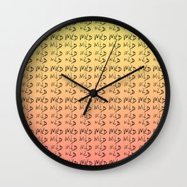 wild-liberty,freedom,cool,fun,positive,wildness,wilderness,wildlife,nature,rebell,forest,vivid Wall Clock