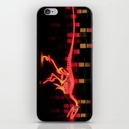 Bright Colored Neon Dinosaur iPhone Skin
