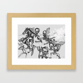 The long run Framed Art Print
