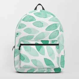 Watercolor brush strokes - aqua Backpack