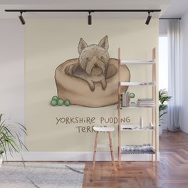 Yorkshire Pudding Terrier Wall Mural