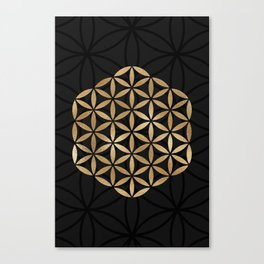Flower Of Life - Sacred Geometry Canvas Print