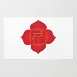 Muladhara Root Red Chakra Rug