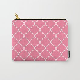 Quatrefoil - Watermelon pink Carry-All Pouch