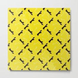 Dogs infinity - Fabric pattern Metal Print