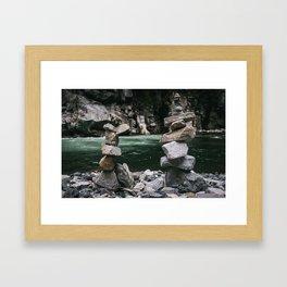 Riverside Balance Framed Art Print