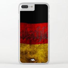 German Flag - Vintage... Clear iPhone Case