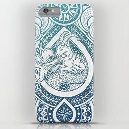 Paisley Capricornus   Turquoise Blue Ombré iPhone Case
